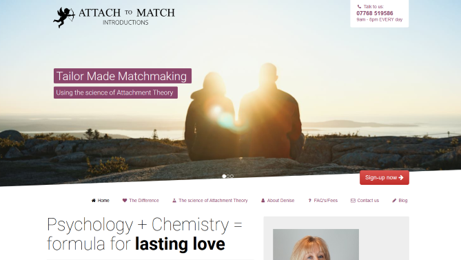 Worthing web design - AttachToMatch.com A tailor made matchmaking service