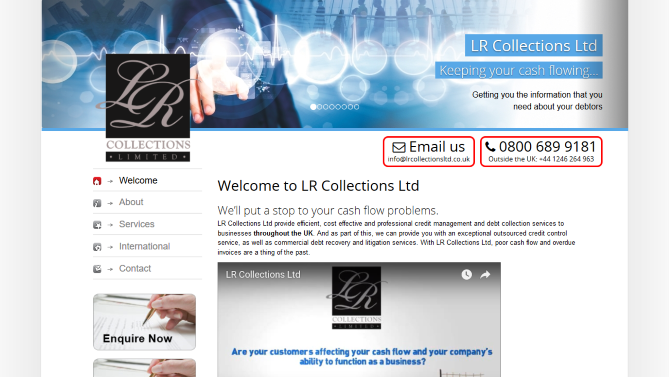 Worthing web design - LR Collections Cost effective and professional credit management and debt collection services