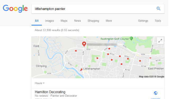First result - Google Maps snippet